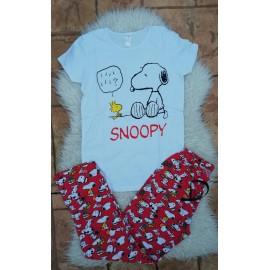 Pijama dama Snoopy Smart Alb