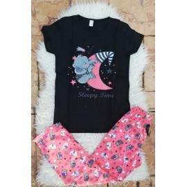 Pijama dama Elephant Sleepy Negru