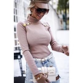 Bluza dama cu guler accesorizata cu nasturi Rolly