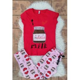 Pijama dama Nutella Rosu