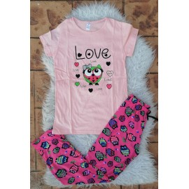 Pijama dama Bufnita Love Roz