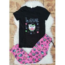 Pijama dama Bufnita Love Negru