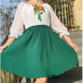 Rochie cu motive traditionale Miky Verde