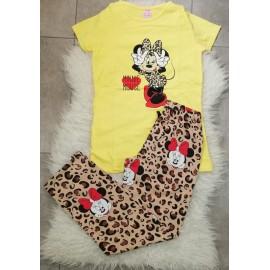 Pijama dama Minnie Leopard Galben