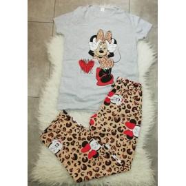 Pijama dama Minnie Leopard Gri