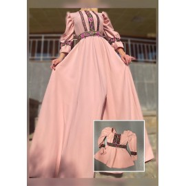 Set rochii Mama-Fiica cu model floral lunga Eda Roz