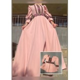 Set rochii Mama-Fiica cu model floral lunga Eda