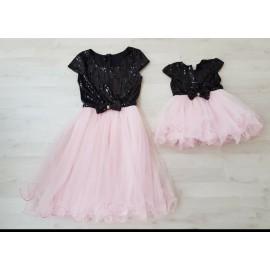 Set rochii Mama - Fiica cu maneca scurta Patricia Roz