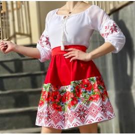 Rochie dama scurta cu motive traditionale Bobocica