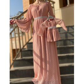 Set rochii Mama-Fiica din voal Vero Roz