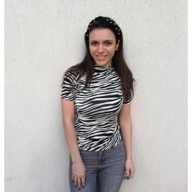 Bluza dama cu imprimeu Zebra Tody