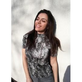 Bluza dama cu imprimeu Snake Tody