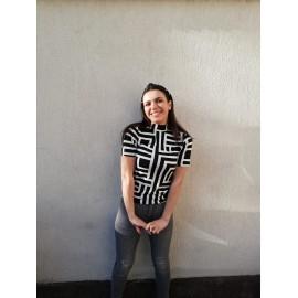 Bluza dama cu imprimeu Labirint Tody