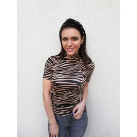 Bluza dama cu imprimeu Zebra Maro-Negru