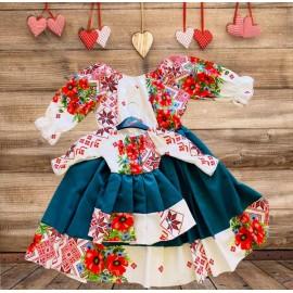 Set rochii mama - fiica cu imprimeu floral Sysy