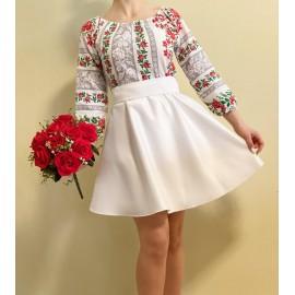 Rochie scurta cu model floral Rose