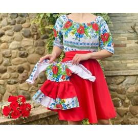 Set rochii mama-fiica cu imprimeu floral Michel