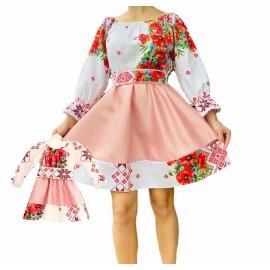 Set rochii mama-fiica scurte cu model floral Flower