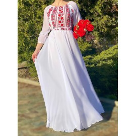 Rochie lunga din voal cu model floral Baby