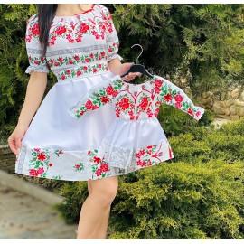 Set rochii scurte Mama-Fiica cu imprimeu Favorit