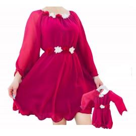Set rochii scurte Mama-Fiica Valeria Rosu