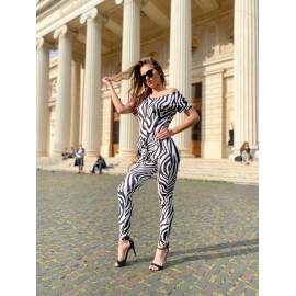 Salopeta dama din lycra usoara Zebra