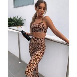 Compleu dama lycra Leopard Bej