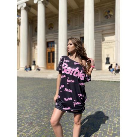 Rochie scurta cu desene Barbie