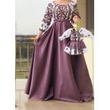 Set rochii Mama-Fiica cu motive geometrice Eva Lila