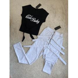 Set 2 piese pantaloni si top Leila Ciao Baby