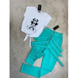 Set 2 piese pantaloni si top Leila Minnie & Mickey