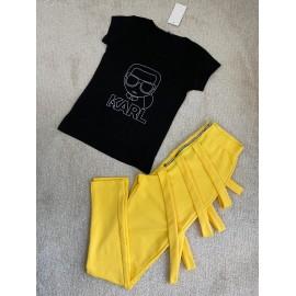 Set 2 piese pantaloni si top Leila Karl