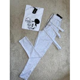 Set 2 piese pantaloni si tricou Leila Mickey Romby
