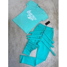 Set 2 piese pantaloni si tricou Leila  Lasa-ma-mi Place