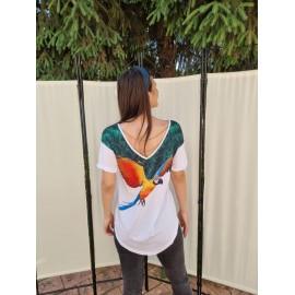 Tricou dama cu imprimeu Parrot