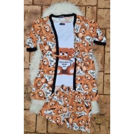 Pijama dama 3 piese Toy Teddy Maro