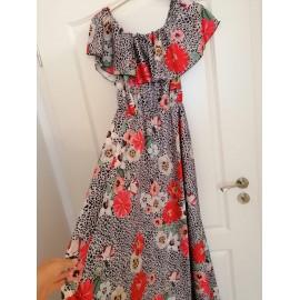 Rochie lunga cu imprimeu floral Suzi
