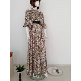 Rochie lunga din satin Ade