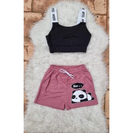 Compleu scurt Club Panda