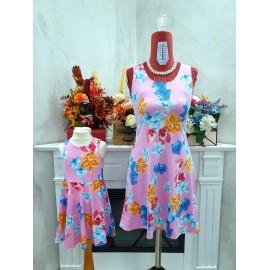 Set Rochii Mama-Fiica cu imprimeu floral Clara