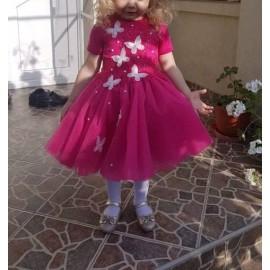 Set Rochii Mama-Fiica cu tull si dantela Nicoline cu aplicatii