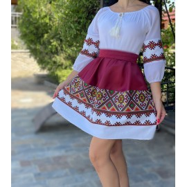 Rochie cu motive traditionale Dorina Bordo