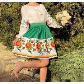 Rochie cu motive traditionale Lora
