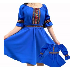 Set rochii scurte Mama-Fiica Eda Mov