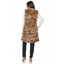 Vesta lunga de blana Elegance cappuccino